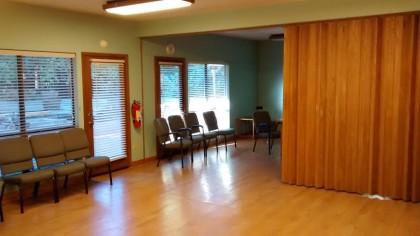 Forest Hall with accordian door